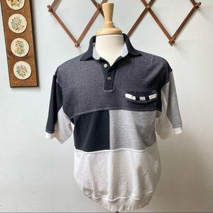 Vintage Color Block Polo Shirt